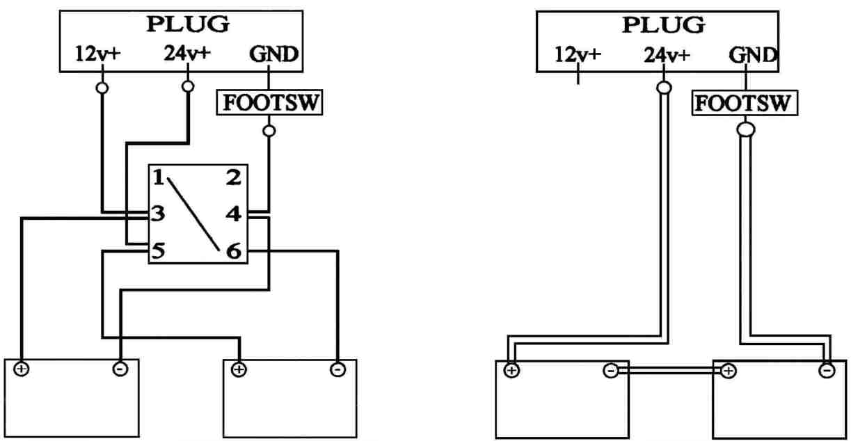 conversion of a 12/24v system to straight 24v, Wiring diagram